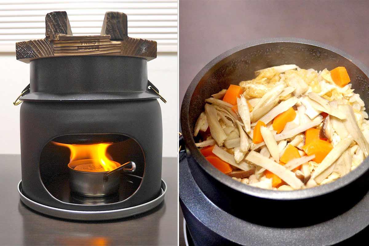 炊飯器いらず!? 旅館でよく見る「ミニかまど」で米を炊くとめっちゃおいしい