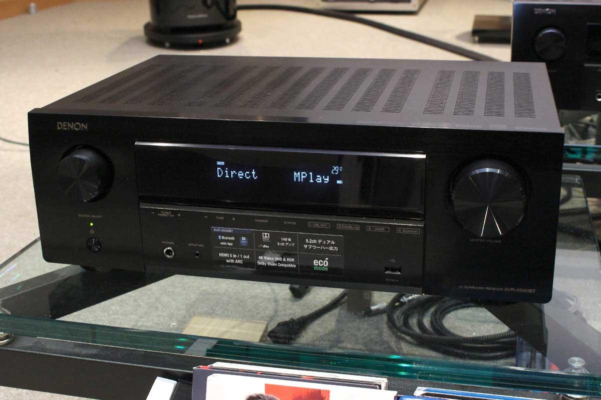 デノンが3万円台で買えるAVアンプ入門機「AVR-X550BT」を発表
