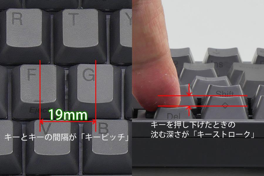 68cd5cbc1c キーボードを購入するときにまずチェックしたいのが、隣り合うキーの間隔を表す「キーピッチ」と、キー押したときの沈む深さを表す「キーストローク」というスペック  ...
