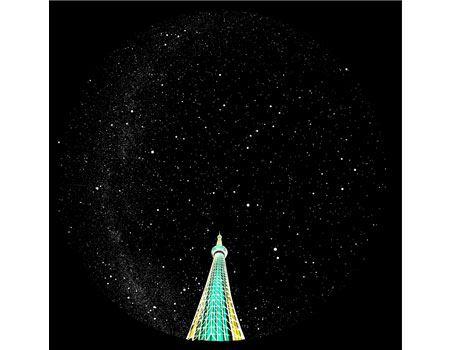 東京業平橋近辺から見える星空を、約1万個の星で再現