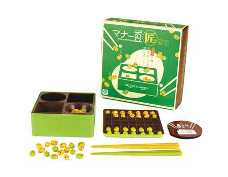 お箸で豆をつかんで勝負する対戦型ゲーム「マナー豆(匠)」