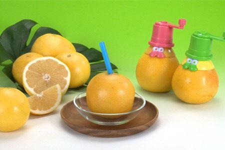 果汁たっぷりのグレープフルーツジュースが簡単に作れる「おかしなグレフルチューチュー」