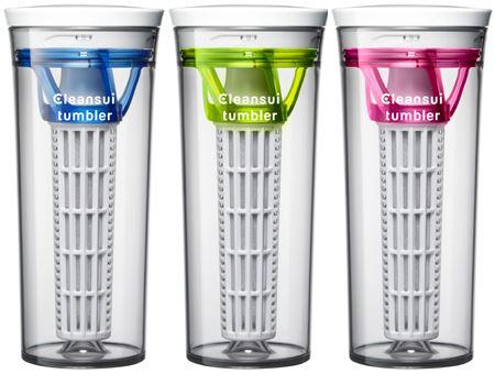 外出先に浄水器を持ち出すという、新発想の携帯型浄水器「クリンスイ タンブラー」