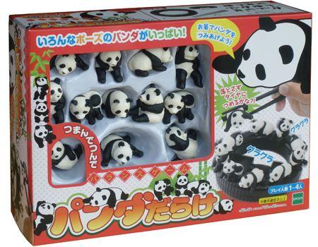 かわいいパンダをお箸で積み上げるバランスゲーム「パンダだらけ」