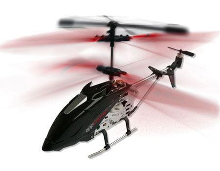 本体が従来の「アプコプター」よりひとまわりほどサイズアップ。より安定的な飛行を楽しめるのもポイント