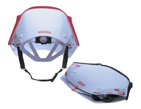 たたんだ姿からヘルメットになるとは想像つきません