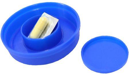 キャップの内側は薬ケースになっている