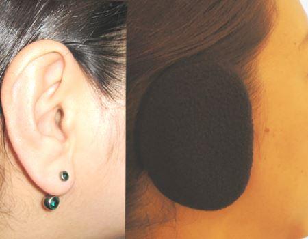 福耳だとよく言われるこの耳も、ピアスまですっぽりおさまりました