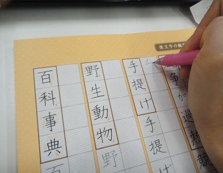 真横にある見本を見ながら書くことができるので、真似しやすい!