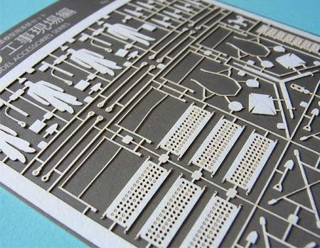 紙のパーツは、精密にレーザーカットされています