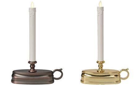 お城にありそうな蜀台タイプも。ブロンズとゴールドの2色があり、貴族感あふれています(アロマタイプではありません)