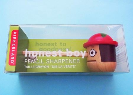 鉛筆削りに見えないユニークなデザインが筆者のお気に入りです