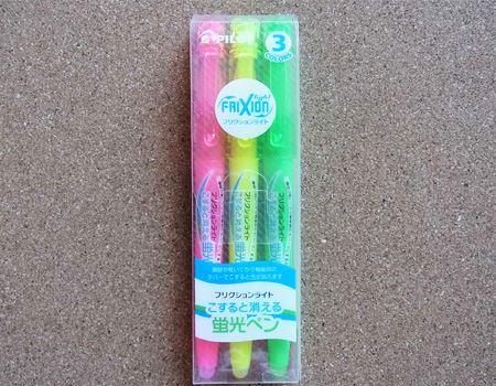 色は全部で6色。筆者は、ピンク・イエロー・グリーンの3色パックを使っておりますが、他にもオレンジ・ブルー・バイオレットがあります