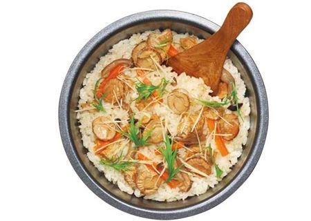 「入れ炊く 国産ほたて」炊きあがりイメージ