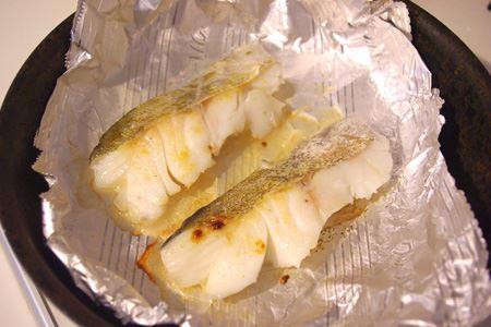 身がバラバラになりやすい鱈の塩焼きも、皮がくっつかないのでキレイに焼ける