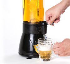 中央の筒に氷を入れておくだけでビールが冷え冷えに。泡もクリーミーで居酒屋の生ビール風味が味わえます