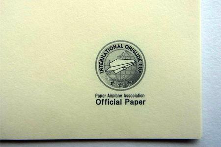 協会公認のオフィシャルペーパー。薄い紙ですが非常に目が細かくしっかりしています