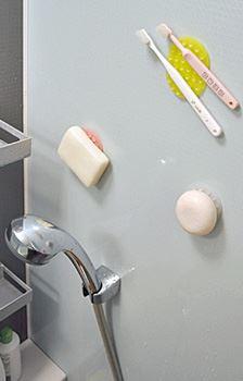 お風呂の壁を有効利用できるのってうれしい!
