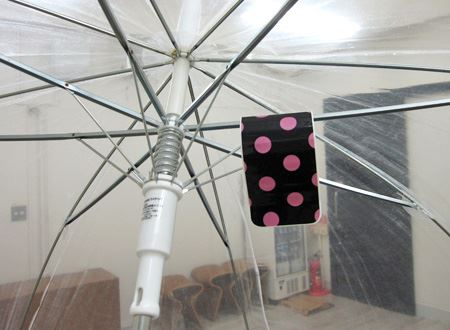 傘を使っている間でもジャマにならない!