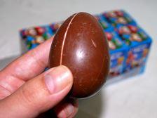 タマゴ型のチョコ