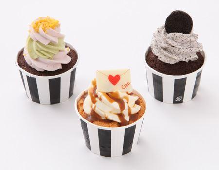 写真左から「ゴッホ」、「チャプチーノ」、「クッキークリーム」