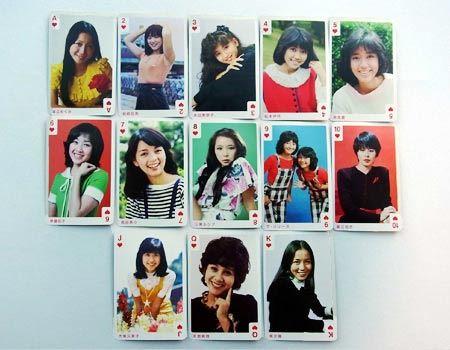 13人を並べてみました。やはりアイドルは今も昔もかわいいですね♪