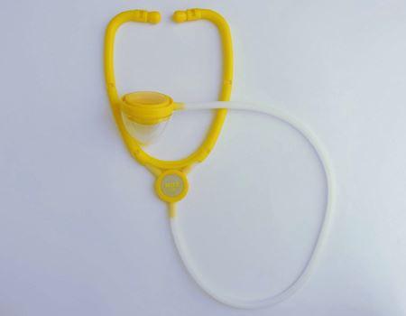 完成した聴診器。数分で組み上がります