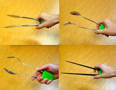 ほかにもナイフ・フォーク・スプーン・箸でバリエーションいろいろ!