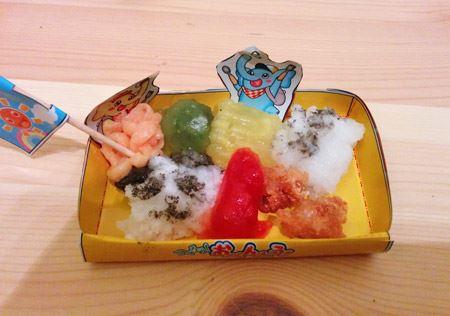「つくろう! おべんとう!」の完成品。こちらはお寿司よりもちょっと難しかったようですが、それなりに形にはなりました