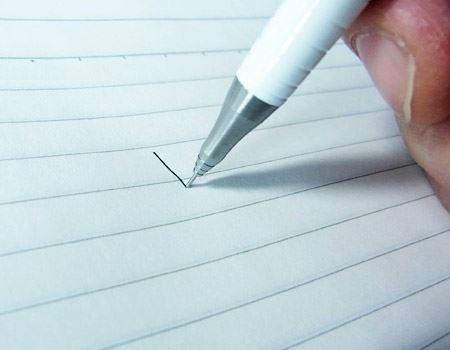 芯が見えない状態でもしっかりと書くことができます