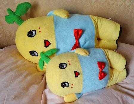 手前が普通の添い寝抱き枕。奥が今回新発売のBIG。並べるとまるで親子のようです