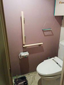 """シンプルな白い壁紙だった我が家のトイレを""""ボアドローズ""""でペイント"""