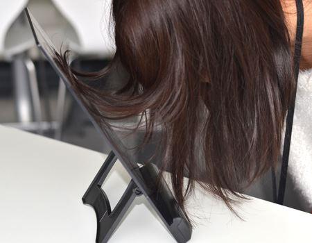 紙はぴったり貼り付いたのに髪はあんまりつかなかった…