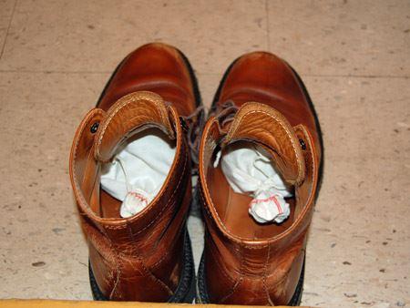 このように靴の中に入れておきます
