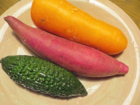 ほかの野菜と並べてみました。ドッキリにも使えそう…