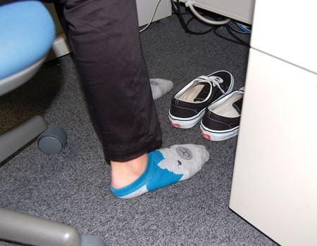なんて言うんですかね、靴を脱ぐと…本当の自分に戻れる気がするんです…