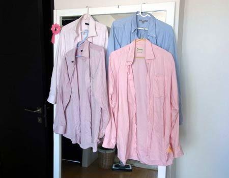 ちなみに筆者宅ではこんな感じでシャツを干しております