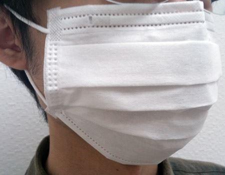3Dプリーツ構造でマスク特有の息苦しさも感じない