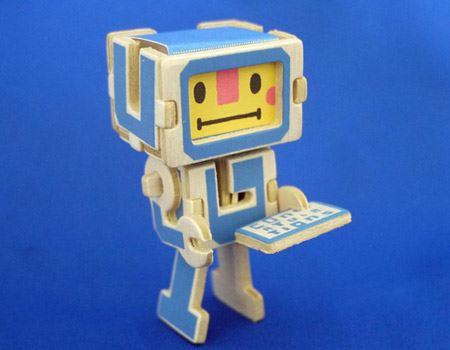 するとあっという間にロボットの完成です!