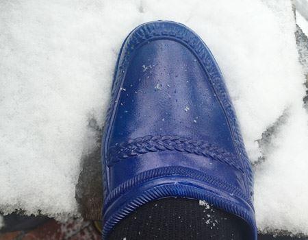 雪の日だってへっちゃらでした!
