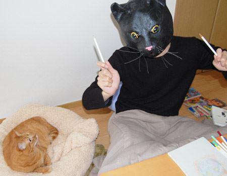 アンジ(我が家の猫)は若干呆れ顔
