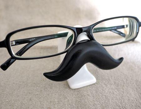 さっそくメガネを置いてみました。いいですね。このヒゲの存在感!