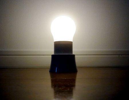 もう一度押せば強点灯、さらにもう一度押すと消灯します