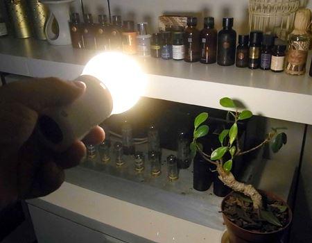 一般的な懐中電灯とは異なる優しい明かりと独特の光の広がりがいいですねえ〜♪