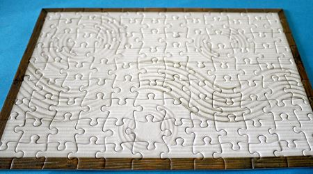 ジグソーパズル完成です。丸い砂紋と波のような砂紋が特徴的です