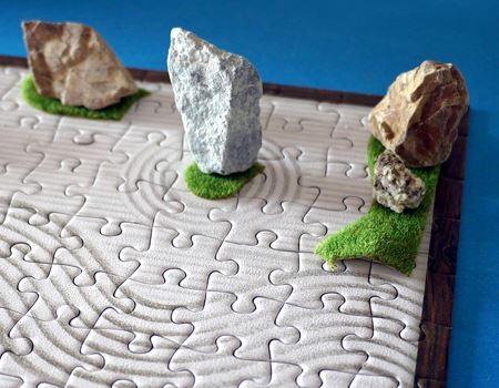 石を縦におくと、また雰囲気が変わります