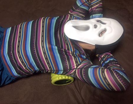 結構効くので、マスクの下の顔も同じになってますwww