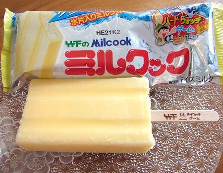 ミルクックは、いわゆるミルクセーキ味のバー。ストレートにミルク風味を楽しめます