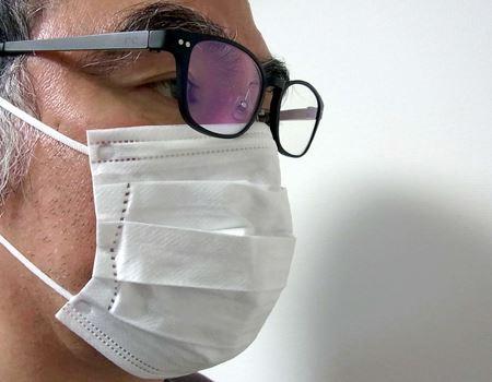 「マスクにはるこちゃん」があると、ずれ落ちることなくずっとこの状態をキープ!