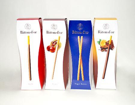 バトンドール = 黄金のスティック、という意味だそうです。さまざまな味のパッケージが発売されています